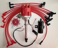 SMALL BLOCK CHEVY 350 Pro Series HEI Distributor +Black Coil +Plug Wires over VC