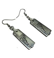 Spoon Earrings 1937 Art Deco Oneida Nobility Plate  Caprice Vintage Silverplate
