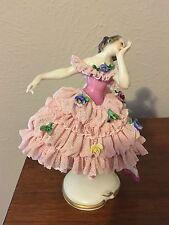 "New listing Dresden Porcelain Lace Ballerina~Beautiful~5 1/2"" Tall"