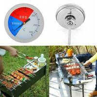 Stainless Steel Barbecue BBQ Smoker Grill Thermometer Temperature Gauge 100 E9R8