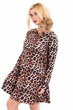 Ladies women's girls swing dress*long sleeve*tops t- shirt skater dresses vest