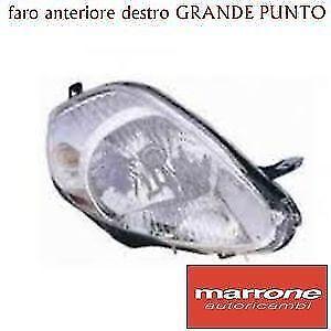 FARO DESTRO H4 7 PIN FIAT GRANDE PUNTO 2005 >08 PROIETTORE FANALE ANTERIORE DX