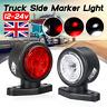 2x LED Side Marker Outline Indicator Light Lamp Truck Trailer Caravan Van