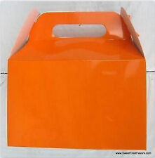 Orange Party Supplies Boxes Birthday Decoration Gable Loots x12 Bag Goody New