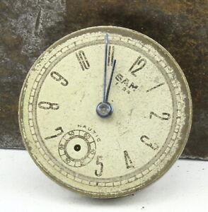 Mouvement de Montre Ancienne mécanique SAM (Lip) 1.24 23,8 mm - F48-12