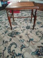 Antique/Vintage Mahogany Cane Topped Side Table