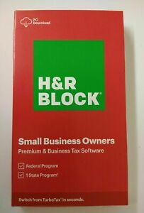H&R BLOCK 2020 PREMIUM & BUSINESS TAX SOFTWARE FED EFILE+STATE: PC DOWNLOAD ONLY