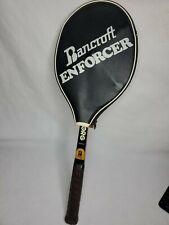 Vintage Bancroft Bjorn Borg Personal Tennis Racquet Wooden 4 5/8 W Cover