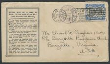 Dominica 1938 cover cancelled in USA with POSTED ON HIGH SEAS cachet