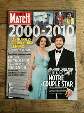 Paris Match du 23 Dec 2009 Marion Cotillard et Guillaume CANET/Special 2000-2010