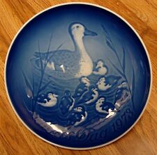 Vintage Copenhagen Porcelain Plate - Mother'S Day 1973, Ducks