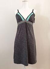 NWT XOXO Chemise Babydoll Slip SizeL Gray Turquoise Blue Mesh Sleepwear Spacedey