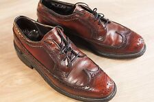 Stafford 7.5 Brown Brogue Vintage Wingtips Oxfords Dress Shoes Mens USA