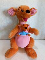 """Disney Kanga & Roo Large 20"""" Plush Mattel Soft Toy Winnie The Pooh Jumo Kangaroo"""