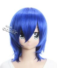W-95 FAIRY TAIL Juvia Lockser Loxar Cosplay Bleu Blue 36 cm Perruque WIG Perruque