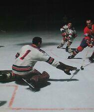 Nostalgia Hockey Print Photo Ed Giacomin Goalie New York Ranger Vs H.Richardeg17