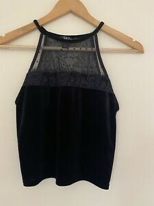 New Look 915 Generation Top Black 12-13 Years Strappy Sleeveless