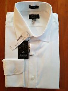 J. Crew Ludlow Slim Fit Oxford Dress Shirt 15.5/34 (M) White Pinpoint Cotton NWT