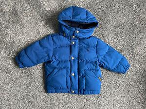 Ralph Lauren Baby Boy Blue Puffer Coat 12 Months