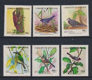 El Salvador - 1984, Birds set - MNH - SG 1859/64