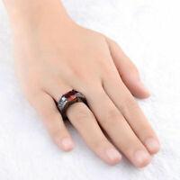 Fashion Black Zircon Dragon Titanium Stainless Steel Men's Wedding Band Rings