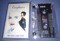 EURYTHMICS WE TOO ARE ONE cassette tape album T5230