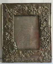 Beautiful Antique Japanese Rectangular Repoussé Photo Frame
