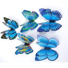 12X 3D Butterfly Wall Sticker Fridge Magnet Room Decor Decal Applique Gifts US