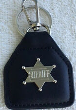 OLD WEST -  SHERIFF'S  STAR  leather key fob - . A010604F