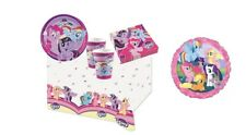 KIT COMPLEANNO BAMBINA MY LITTLE PONY + PALLONCINO FOIL ADDOBBI PARTY BICCHIERI