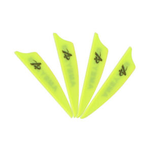 "50pcs 2"" 3"" 4"" Archery Plastic Vanes Arrow Feathers Rubber Fletches Fletching"