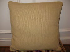 Ralph Lauren DEAUVILLE Gold Knit Metallic Throw Pillow NWT $210