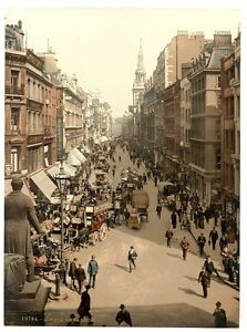 4 Victorian Views London British Museum Cheapside Houses of Parliament Photos