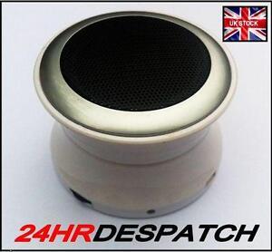 Brand New White Bluetooth Mini Speaker for HTC Mobile Phone