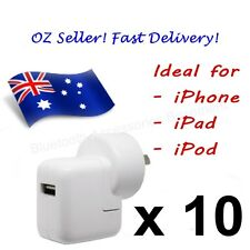 10 x AC Wall Charger for APPLE iPhone, iPad & iPod