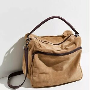 Free People NWT We The Free Harris Suede Leather Hobo Bag NEW Purse