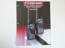 Yaesu FT-11R/41R (sólo Folleto Original)... radio _ trader _ Irlanda.