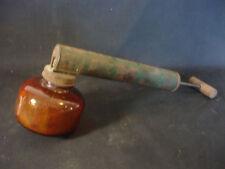 Old Vtg Nebu-Lazor Fly Sprayer Amber Glass Made In The U.S.A. Wood Handle