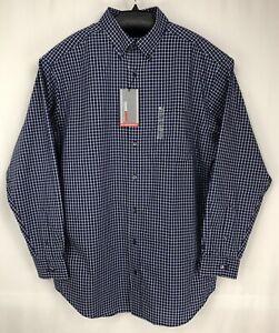 Roundtree Yorke Travel Smart Men Shirt 2XT, 2XB, 3XB, 3XT Long Sleeve Blue New