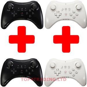 2 X Wireless Pro Controller Gamepad Joystick Joypad Remote for Nintendo Wii U