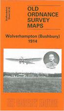 OLD ORDNANCE SURVEY MAP WOLVERHAMPTON BUSHBURY 1914