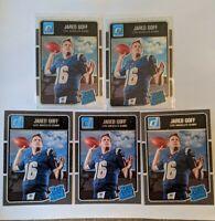 2016 Jared Goff Optic Rated Rookie Lot, x2 2016 Optic, x3 2016 Donruss Rams PSA?