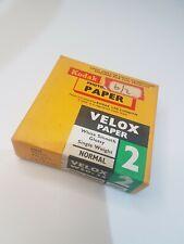 Kodak Velox Photographic Paper Vintage Sealed in Box 100 Sheets 6.5 x6.5cm