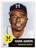 2018 Topps Living Set #46 Hank Aaron Milwaukee Braves SP