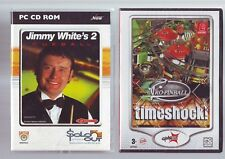 JIMMY WHITE'S 2 CUEBALL - POOL PC GAME + PRO-PINBALL TIMESHOCK COMPLETE VG / NEW