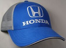 Hat Cap Licensed Honda Grey Mesh Blue CF