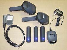 2x Metrologic Ms1633 Wireless Bluetooth 2d Scanner Usb Set 3 Battery Codexml