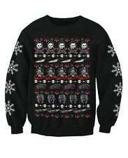 Horror Movie Film Inspired Adults Novelty Christmas Sweatshirt Jumper Large 42-44inch Chest