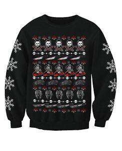 Horror Movie Film Inspired Adults Novelty Christmas Jumper Sweatshirt