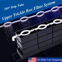 Aquarium External Filter Trickle Rain Drop Upper Fish Tank Water Boxes